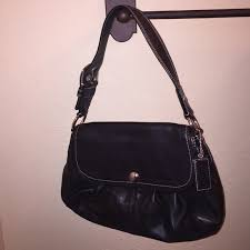 Coach SoHo Pleated Flap Hobo Shoulder Bag  F13729