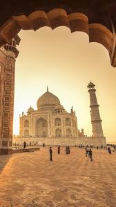 man made taj mahal 480x854 wallpaper