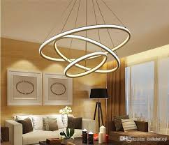 round ring double glow led chandeliers modern led pendant lights aluminum white hanging chandelier for dining kitchen room high brightness ceiling lamp