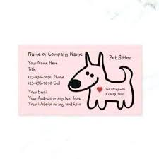 Pet Sitter Business Cards Start A Pet Sitting Business Pet Sitter Business Card Cute Sitting