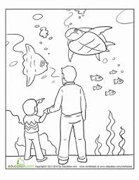 Aquarium Coloring Page Coloring Coloring Pages Color Worksheets