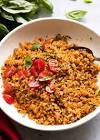 brown rice  tomatoes    basil