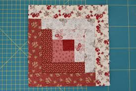 Log Cabin Quilt Patterns Adorable Two Tone Log Cabin Quilt Block FaveQuilts
