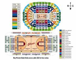 Cleveland Cavs Seating Chart Cleveland Cavaliers Seating Chart With Seat Numbers