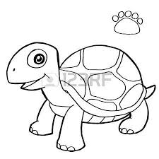 Small Picture Paw Print With Turtle Coloring Pages Vector Royalty Free Cliparts