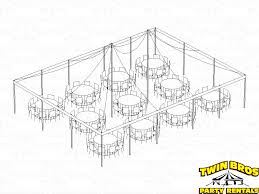Round Table Seating Capacity 30x40 Pole Tent Layouts Pictures Diagrams Rentals