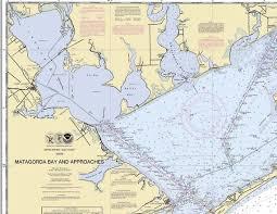 Matagorda Bay And Approaches 2011 Nautical Old Map Reprint Palacios Port Lavaca San Antonio Bay Texas 80000 Ac Chart 1284