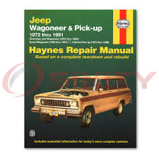 jeep grand wagoneer jeep grand wagoneer haynes repair manual base limited shop service garage bg