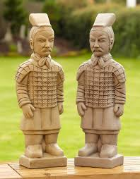 chinese terracotta warriors stone statue garden ornament