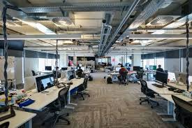 industrial style office. new facebook offices designed in industrial style with vintage charm 13 office f
