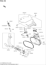 2004 suzuki twin peaks lt v700f converter cover drive belt parts 2012 chevy truck wiring diagram