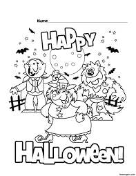 Small Picture Happy Halloween Coloring Pages Get Coloring Pages
