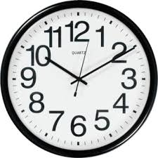wall clock for office. office depot brand commercial wall clock black for o