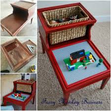 diy repurposed lego table from side table