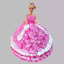 Rosy Barbie Cake Saryog