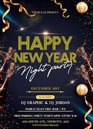 New Year Flyers Template 024 New Year Flyer Template Free Night Party Psd By