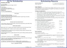 Scholarship Resume New Rotc Scholarship Resume Sample Format For Application How To Write A