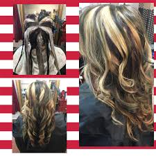 Pinwheel Hair Color Brown Blonde Red