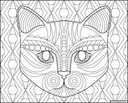 Small Picture Dont Eat the Paste Cat face coloring page