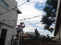 How To Hang Outdoor String Lights Amazing How To Hang Patio String Lights Blue I Style Creating An