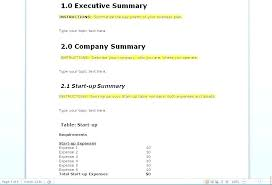 Basic Business Plan Template Easy Business Plan Template Free
