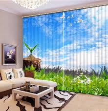 Patterned Curtains Living Room Popular Blue And White Patterned Curtains Buy Cheap Blue And White