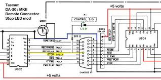dat repair tips figure 4 tascam da 30 remote connector schematic depicting stop led modification