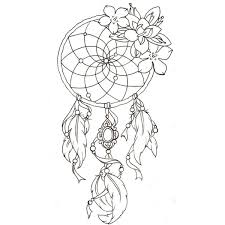 Books About Dream Catchers Dream Catcher Adult Coloring Page Stress Free Coloring 85