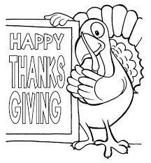 Happy Thanksgiving Day Says The Turkey Coloring Page Download