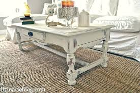 shabby chic white coffee table large