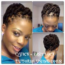 You Tube Hair Style simple and quick lock hairstyle using coils youtube 3252 by wearticles.com