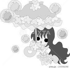 お洒落な赤の傘を持つ可愛い女の子のイラスト素材 25590290 Pixta