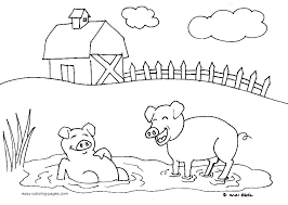 farm animal coloring sheet pages free animals colouring printable