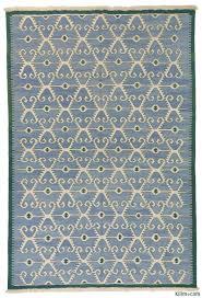 light blue new turkish kilim rug