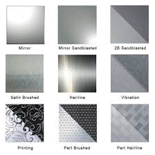 Stainless Steel Surface Finish Chart 2b No 1 8k Hairline 304 2b Finish Stainless Steel Sheet