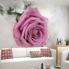 Wall Mural For Living Room Popular Rose Wall Mural Buy Cheap Rose Wall Mural Lots From China