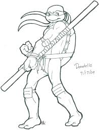 Teenage Mutant Ninja Turtle Leonardo Coloring Pages - Eliolera.com