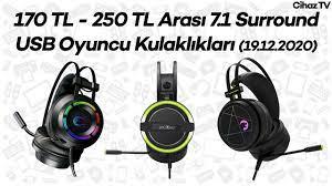 170 TL - 250 TL Arası 7.1 Surround USB Oyuncu Kulaklıkları - Uygun Fiyatlı  Gaming Kulaklıklar - YouTube