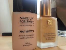 behonestbeauty review make up for ever mat velvet in 40 vs estee lauder double wear