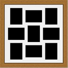 9 aperture picture photo frame to hold 8x6 photos