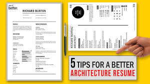 Resume Cv What Is Cv 5 Tips For A Better Architecture Resume Cv Free Template Youtube