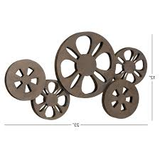 recent film reel wall art in antique bronze movie reel metal wall art free shipping on antique bronze metal wall art with gallery of film reel wall art view 8 of 15 photos