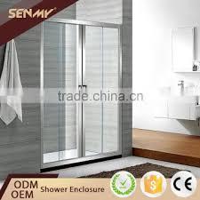 china manufacturer 3 panel frame parts sliding door bathtub shower glass