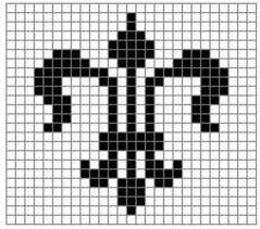 Filet Crochet Charts And Graphs Fleur De Lis Free Crochet Pattern