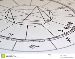Natal Chart Astrology Chart Black And White Natal Chart Stock Photo