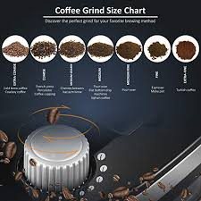 Grinders Size Chart Grind And Brew Coffee Maker With Built In Burr Coffee