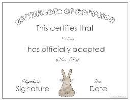 Adoption Certificate Template Template Design Adoption Certificate Template Collection Of