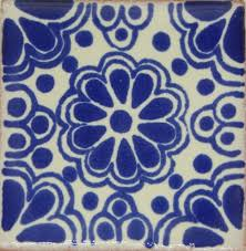 25 tiles ceramic mexican talavera handmade tile 2x2 clay mexico pottery 2 03
