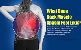 what does back muscle spasm feel like