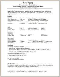 Acting Resume Template Free Enchanting How To Create A Acting Resume Nmdnconference Example Resume